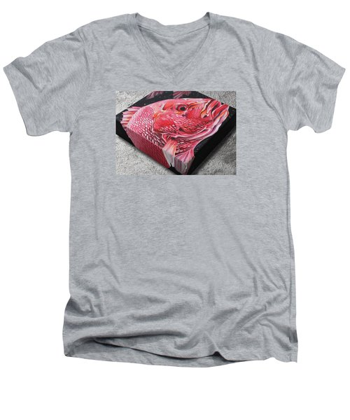 Red Snapper Men's V-Neck T-Shirt