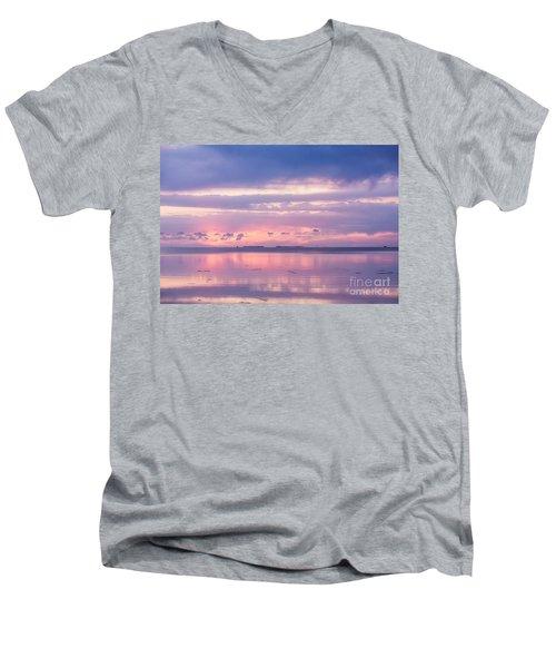 Reflections At Sunset In Key Largo Men's V-Neck T-Shirt