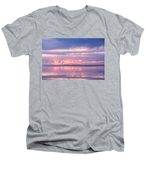 Reflections At Sunset In Key Largo Men's V-Neck T-Shirt
