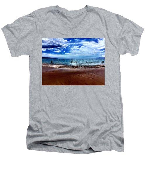 Relax Men's V-Neck T-Shirt by Michael Albright