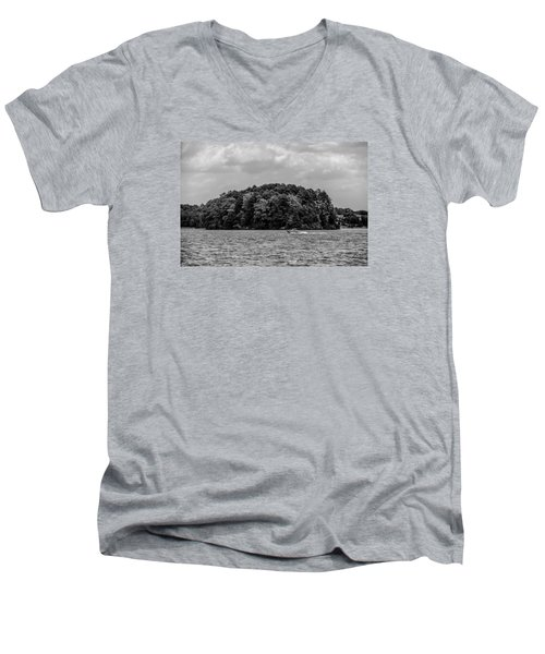 Relaxing On Lake Keowee In South Carolina Men's V-Neck T-Shirt by Alex Grichenko