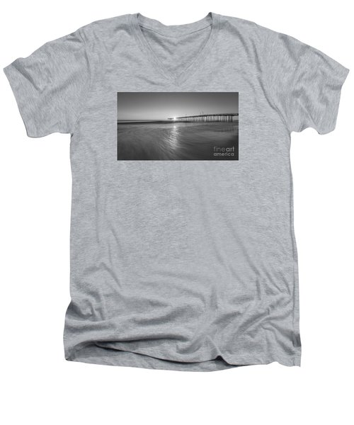 Rise And Shine At Nags Head Pier Men's V-Neck T-Shirt
