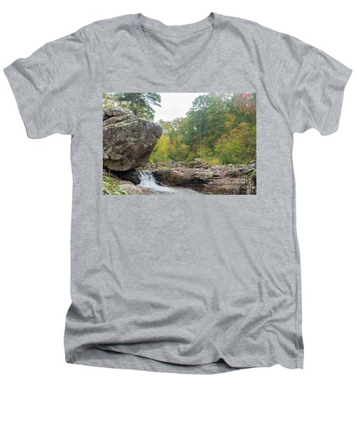 Men's V-Neck T-Shirt featuring the photograph Rocky Creek Shut-ins by Julie Clements