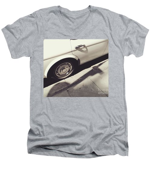 Men's V-Neck T-Shirt featuring the photograph Rolls Royce Baby by Rebecca Harman