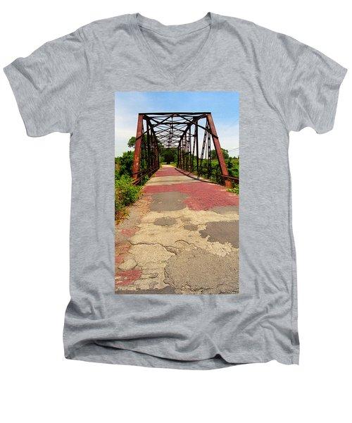 Route 66 - One Lane Bridge Men's V-Neck T-Shirt