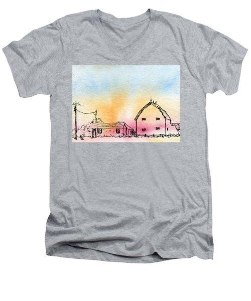 Rural Nostalgia Men's V-Neck T-Shirt