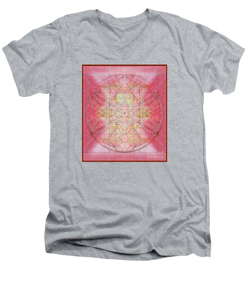 Men's V-Neck T-Shirt featuring the digital art Sacred Symbols Out Of The Void 1b by Christopher Pringer
