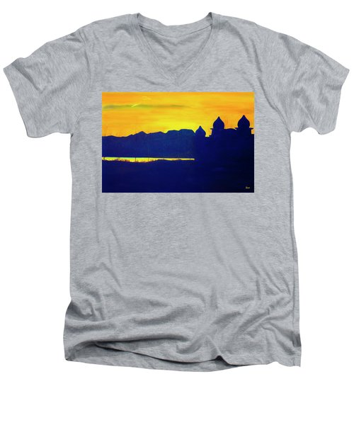 Saltair Sunset Men's V-Neck T-Shirt