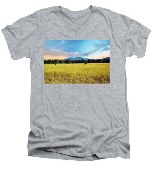 San Francisco Peaks  Men's V-Neck T-Shirt