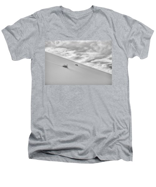 Men's V-Neck T-Shirt featuring the photograph Sand And Clouds by Hitendra SINKAR