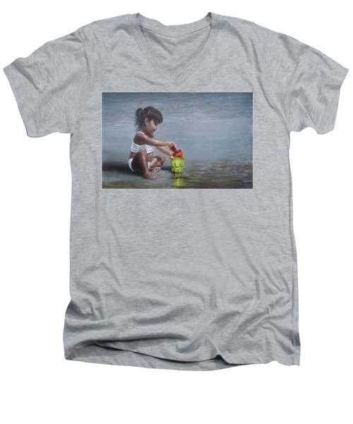 Sand Castles II Men's V-Neck T-Shirt