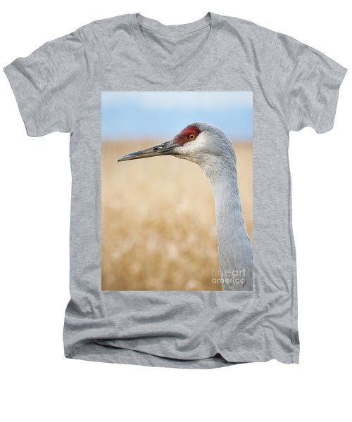Sandhill Crane Men's V-Neck T-Shirt