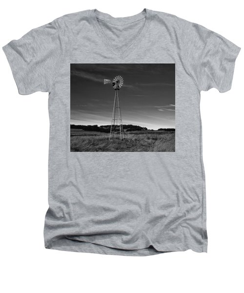 Santa Rosa Plateau Windmill Men's V-Neck T-Shirt