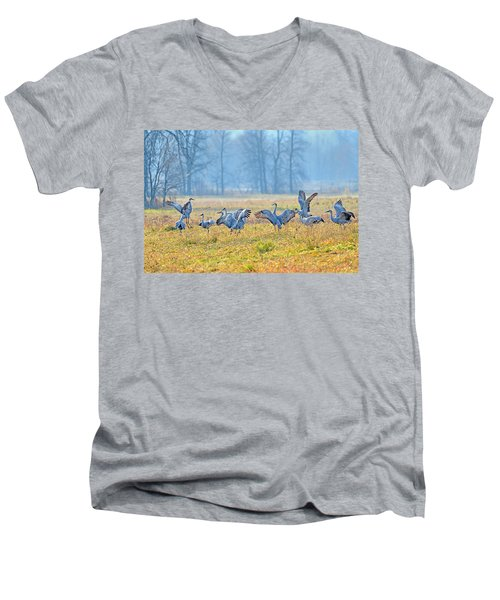 Men's V-Neck T-Shirt featuring the photograph Saturday Night by Tony Beck