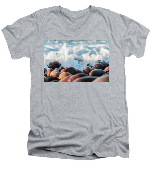 Men's V-Neck T-Shirt featuring the photograph Sea As Art... by Sergey Simanovsky