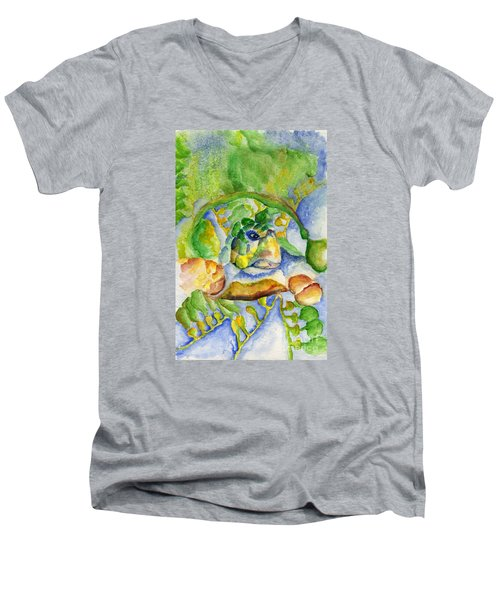 Sea Turtle Hideaway Men's V-Neck T-Shirt by Tamyra Crossley