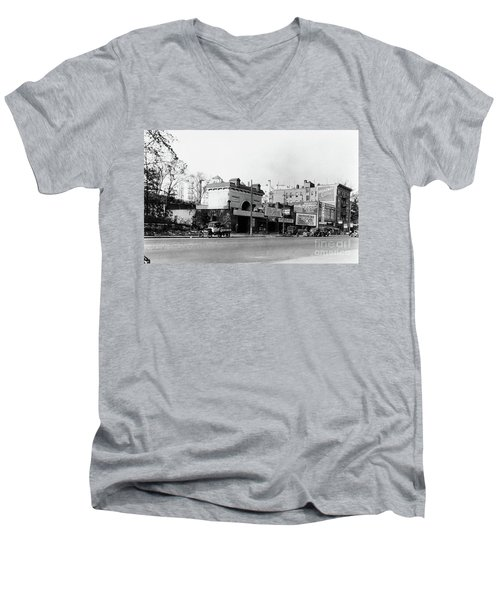 Men's V-Neck T-Shirt featuring the photograph Seaman Drake Arch  by Cole Thompson