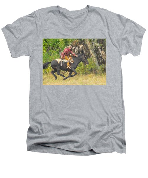 Seminole Indian Warrior Men's V-Neck T-Shirt