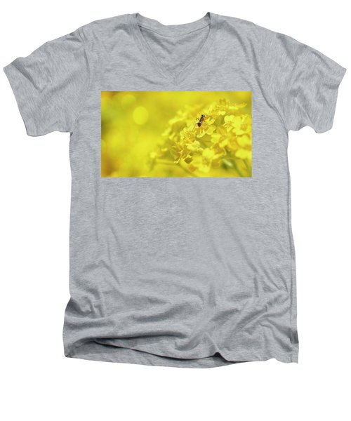 Set The Controls For The Heart Of The Sun Men's V-Neck T-Shirt by John Poon