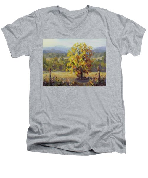 Shades Of Autumn Men's V-Neck T-Shirt by Karen Ilari