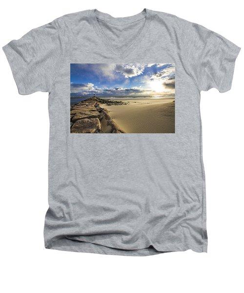 Shinnecock Sand Drift Men's V-Neck T-Shirt