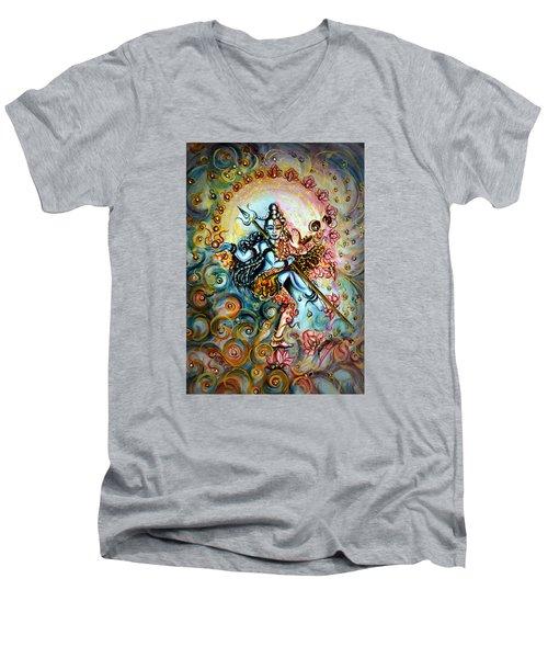 Shiva Shakti Men's V-Neck T-Shirt by Harsh Malik