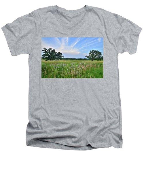 Silver Creek Conservation Area Sunset Men's V-Neck T-Shirt