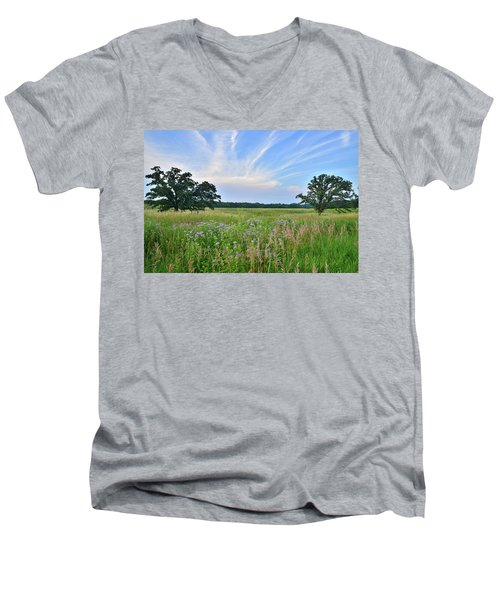 Silver Creek Conservation Area Sunset Men's V-Neck T-Shirt