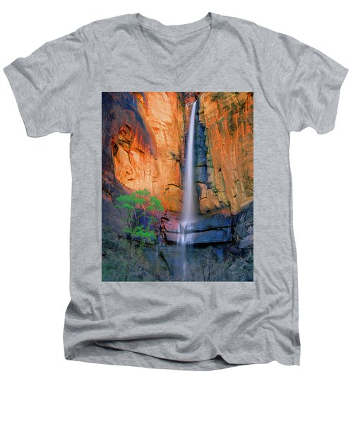 Sinawava Falls Men's V-Neck T-Shirt