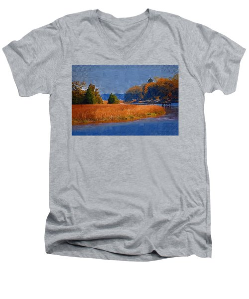 Sitting On The Dock Men's V-Neck T-Shirt