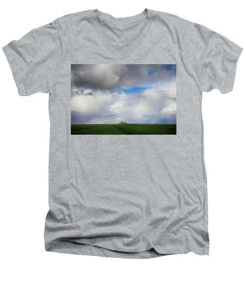 Skyward Men's V-Neck T-Shirt by Laurie Search