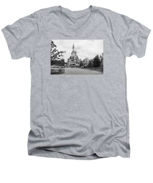 Sleeping Beauty Castle Men's V-Neck T-Shirt