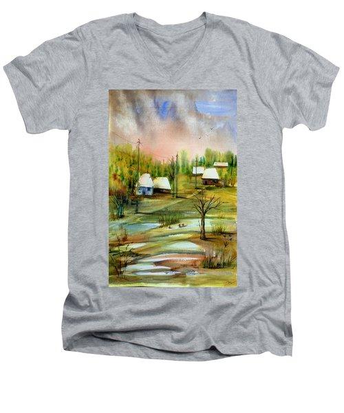 Sleepy Village Men's V-Neck T-Shirt