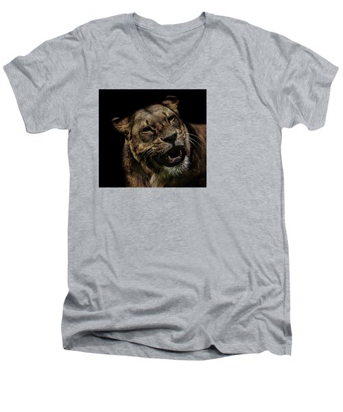 Smile Men's V-Neck T-Shirt by Martin Newman