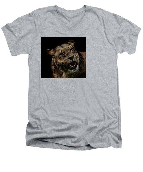 Smile Men's V-Neck T-Shirt by Martin Newman