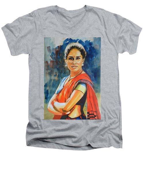 Smita Men's V-Neck T-Shirt