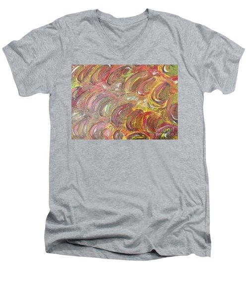 Snow In Autumn Men's V-Neck T-Shirt