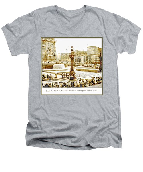 Soldiers' And Sailors' Monument Dedication, Indianapolis, Indian Men's V-Neck T-Shirt by A Gurmankin