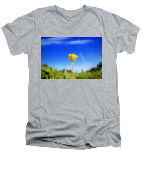 Solitary Flower Men's V-Neck T-Shirt