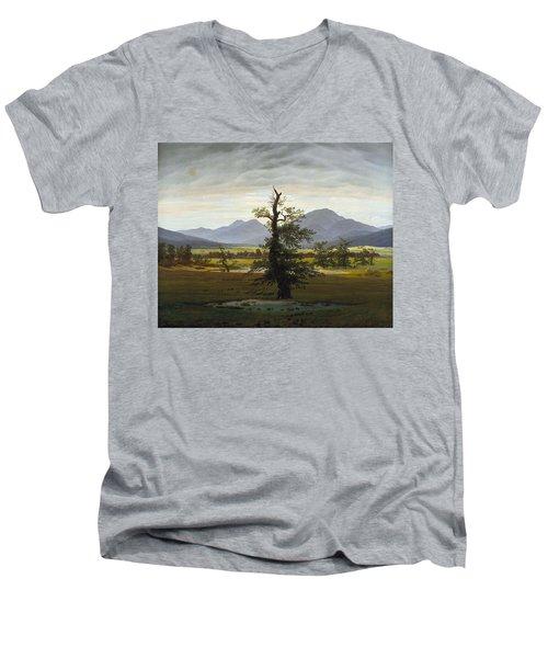 Solitary Tree Men's V-Neck T-Shirt
