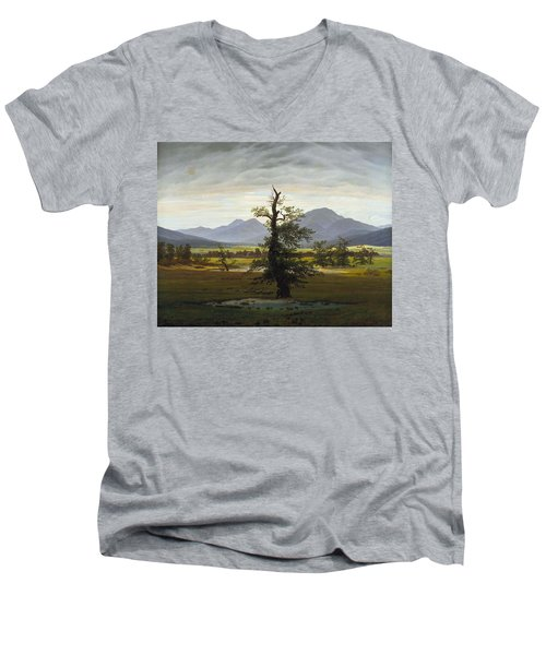 Solitary Tree Men's V-Neck T-Shirt