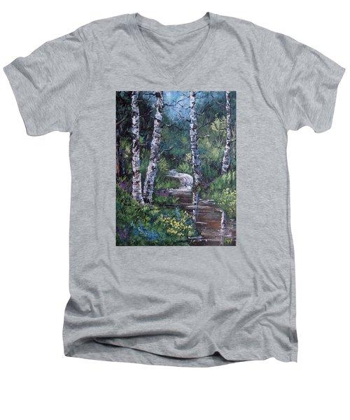Solitude Men's V-Neck T-Shirt by Megan Walsh