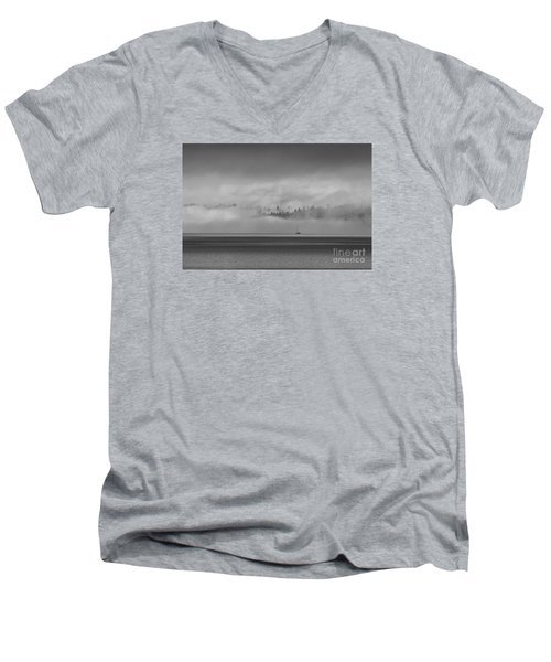 Solitude Men's V-Neck T-Shirt by Sean Griffin