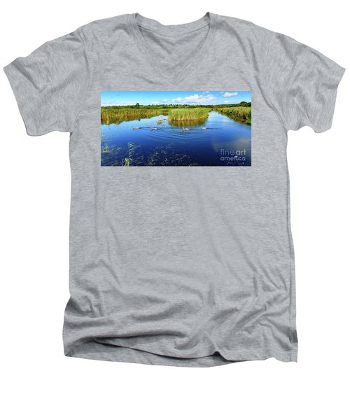 Men's V-Neck T-Shirt featuring the photograph Somerset Levels by Colin Rayner