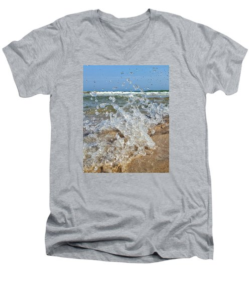 Men's V-Neck T-Shirt featuring the photograph Splash by Nikki McInnes