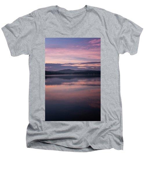 Spofford Lake Sunrise Men's V-Neck T-Shirt