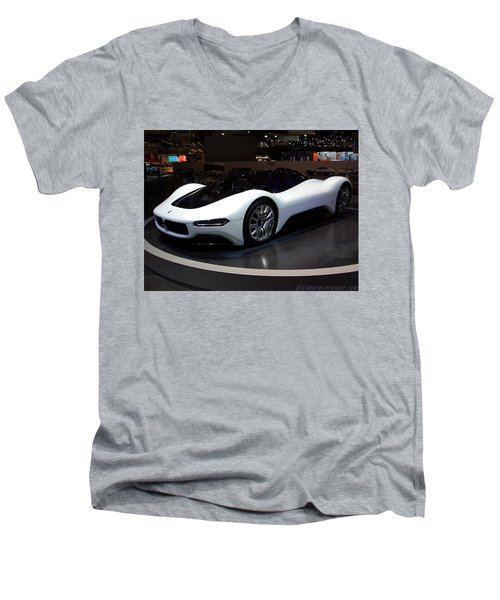 Sports Car Men's V-Neck T-Shirt