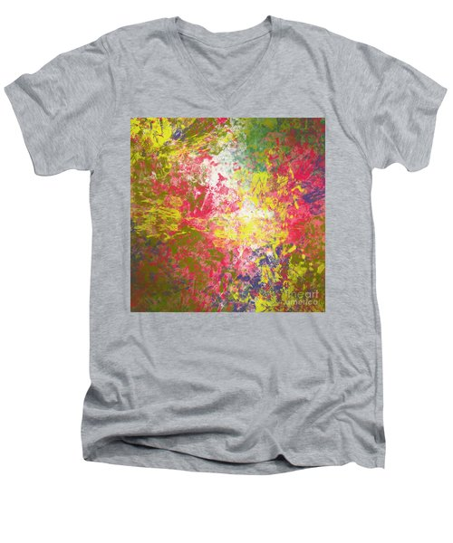 Men's V-Neck T-Shirt featuring the digital art Spring Thoughts by Trilby Cole