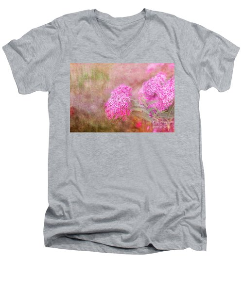 Springtime Men's V-Neck T-Shirt by Betty LaRue