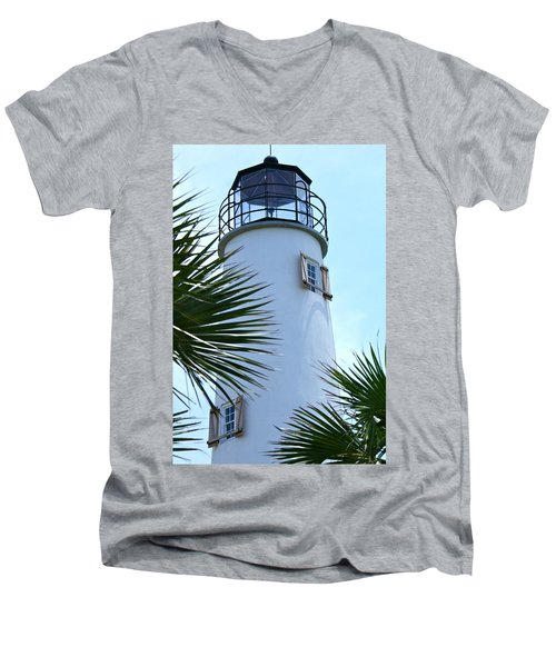 St. George Island Lighthouse Men's V-Neck T-Shirt